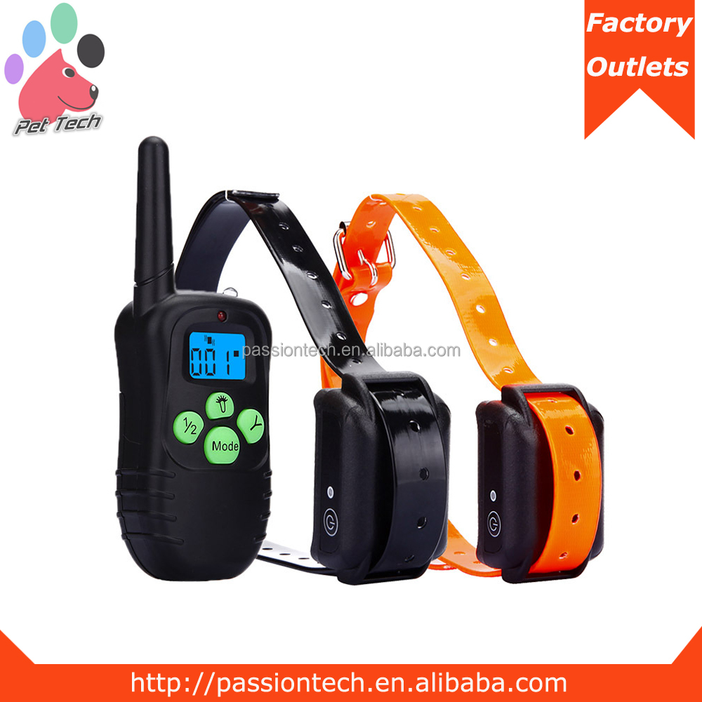 Custom 300M Remote Dog Training Collar Rechargeable Waterproof 2 Pet Dogs Slave Shock Training Collar Hot on Amazon
