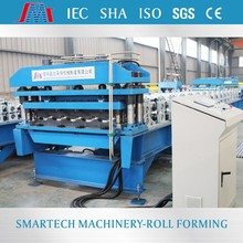 High quality color coating steel tile roll form machine plant for 3D cutting tile fromSMT