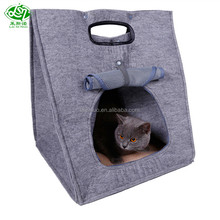 New design high quality felt dog houses cat carrier