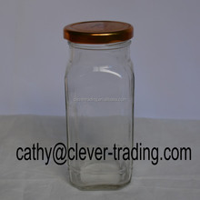 500ml Canned food glass jar with metal lid