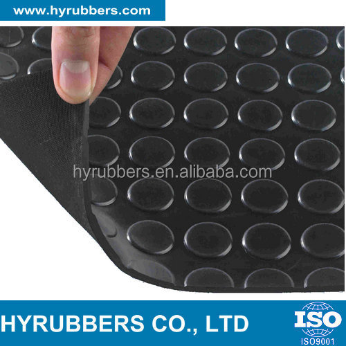 Round button rubber matting, Diamond anti-slip rubber mat , rubber mat