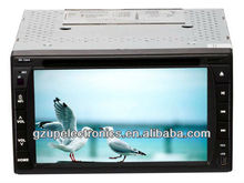 "hot sale 6.2"" Universal double din indash HD touch screen Car DVD Player with GPS BT AV in"