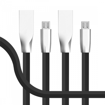High Quality Zinc Alloy TPE Charger Date Sync Micro USB Cable