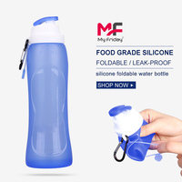 Wholesale foldable bpa free silicone 5 gallon water bottle with handle