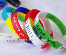 Promotional gifts 2013 multi-color silicone bracelet