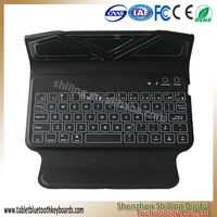 Newly Design Product 160mA Lithium Battery Capacity Wireless Bluetooth Keyboard, Leather Case with Keyboard