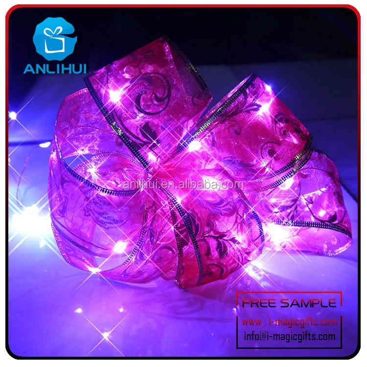 Good gifts and home decoration battery oprated silk ribbon fairy lights