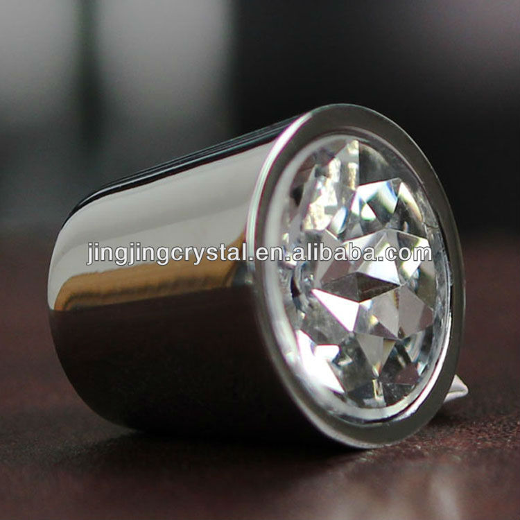 Shift Knob Zinc Alloy Hardware with Crystal Faces Diamond for Drawer Cabinet Dresser Door decorative