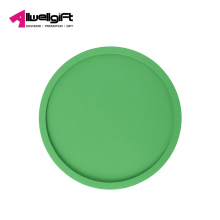 Round thicken PVC soft coaster 10cm creative environmental protection non-slip insulation mat pad