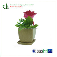Cheap Chinese natural materials decorative wooden flower pots