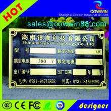 custom self adhesive metal nameplate acid etched stainless steel nameplate price