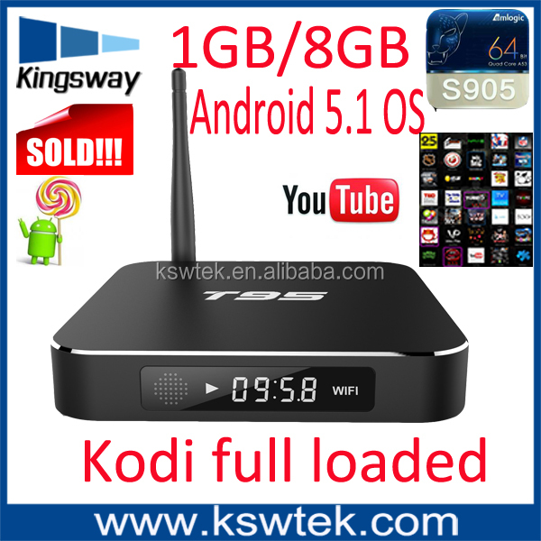 2016 newest kodi 16.0 full loaded t95 tv box amlogic s905 t95 live arabic iptv full hd 1080p porn video android tv box