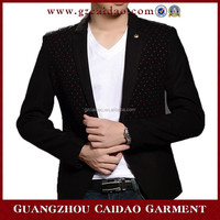 latest new design casual style one button slim men blazer