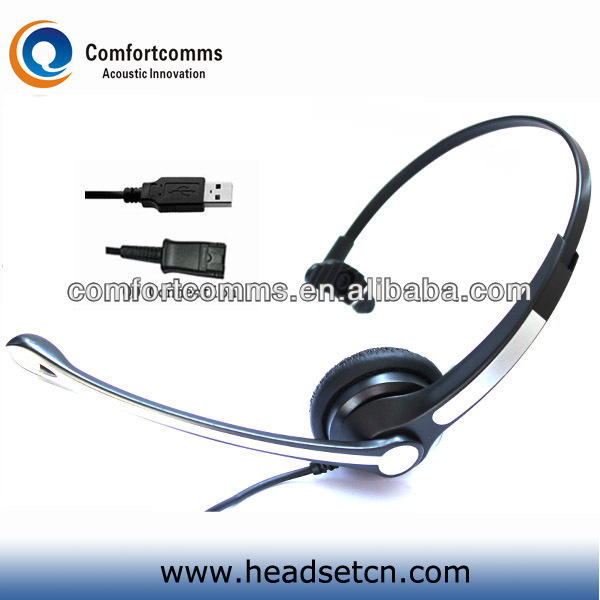 High quality monaural call center headphone headset with usb rohs adapter for computer/laptop HSM-900FPQDUSBS