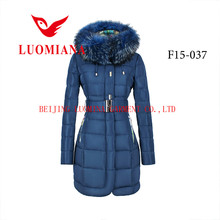 2015 fashion dresses wholesale winter clothing down jacket for women with fur collar