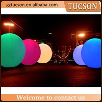 LED Inflatable Hanging Ball/inflatable led sphere balloon for decorations