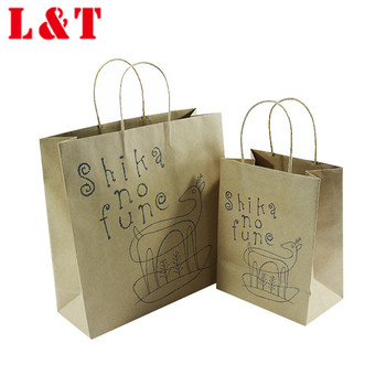 Custom Eco-friendly Raw Material Of Craft Paper Bags With Your Own Logo