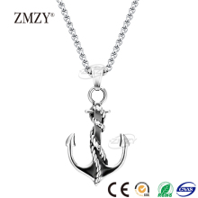 ZMZY brand fashion accessories boat anchor titanium pendant necklace men stainless steel necklace