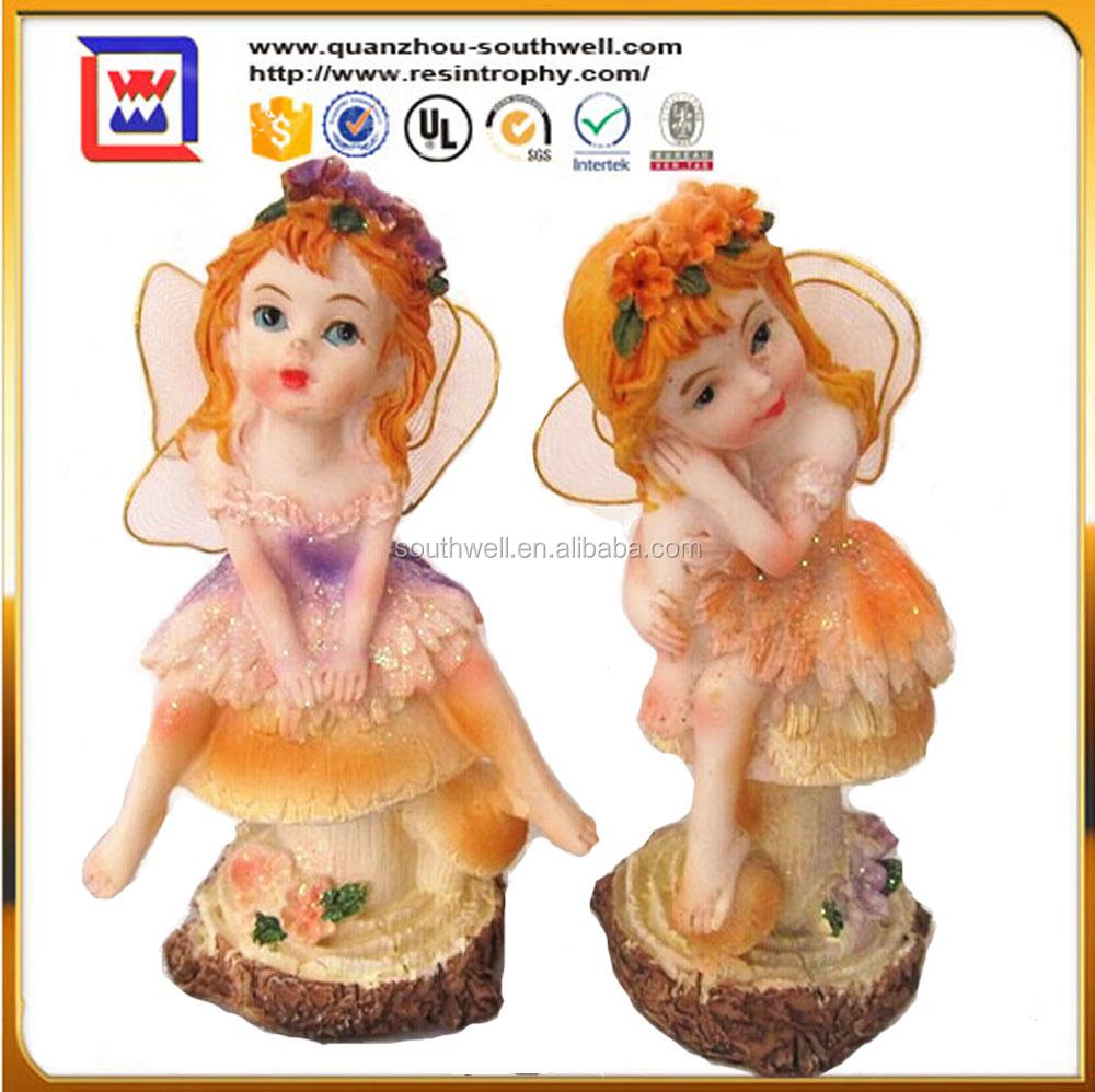resin flying fairy doll and polyresin fairy figurines wholesale flying fairy for decor