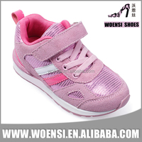 latest design pink color customized cheap durable fancy girls stylish sport shoes