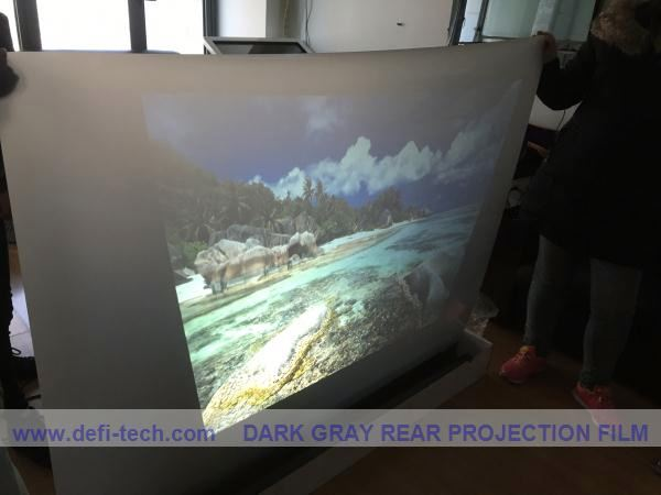 High Definition Dark grey high clear screen protector film for advertising, Glass Window Film,use under direct sun &light