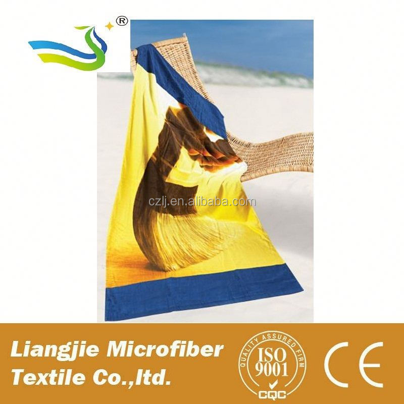 soft microfibre round beach towel with tassels