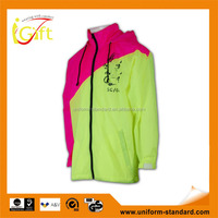 Hot sale high quality jacket fashion custom neon windbreaker jacket