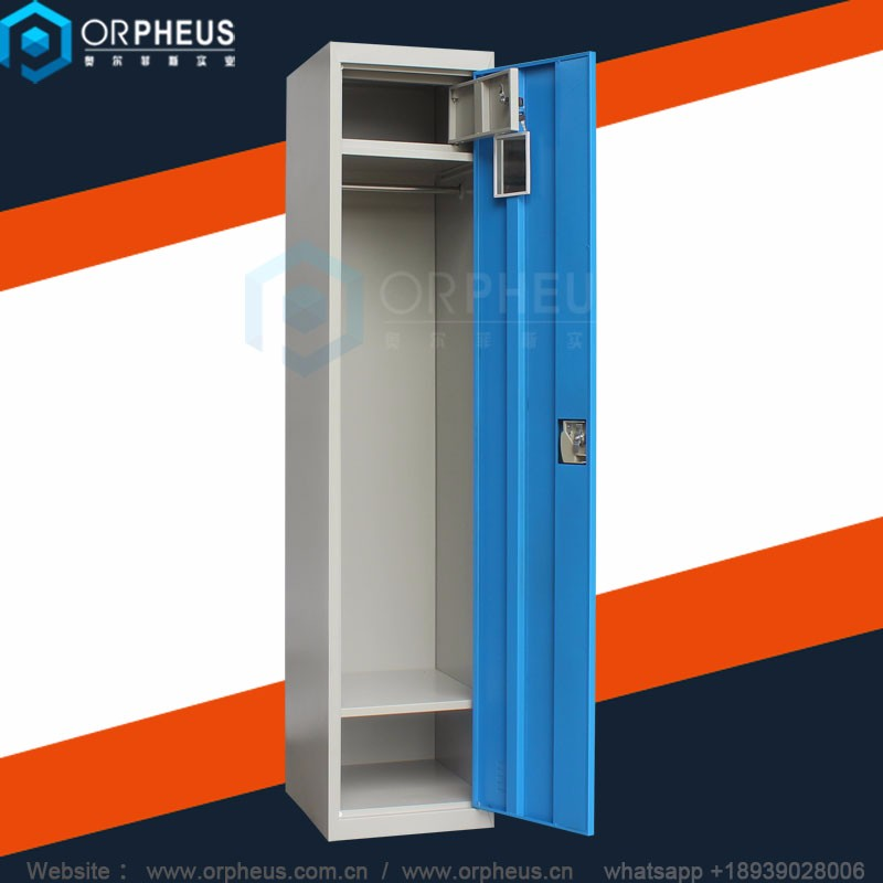 Factory Direct KD Structure single 1 2 door steel storage locker cabinet for clothes
