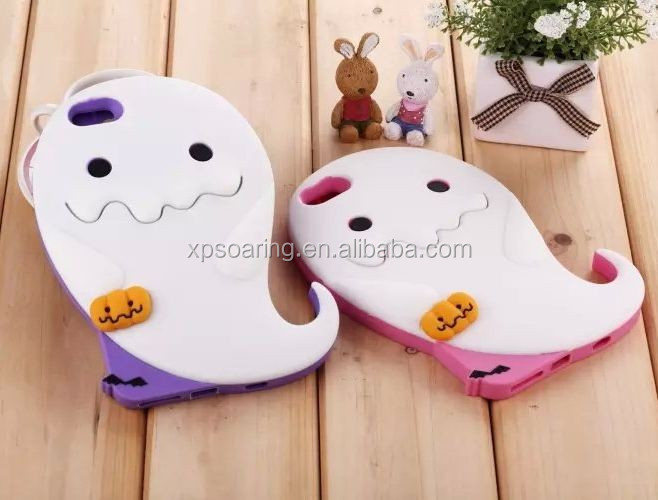 3D ghost silicone case cover for iphone 6, luminous silicone case for iphone 6