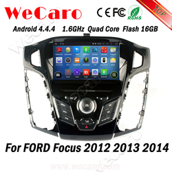 Wecaro WC-FF7305 Android 4.4.4 car dvd 2 din ford focus car radio with gps bluetooth 2012 2013 2014 bluetooth
