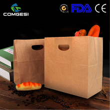 Food grade kraft paper bag for food packing recycle customized washable paper bag with your own logo