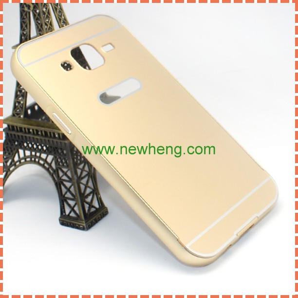 For Samsung Galaxy J5 Metal Frame Bumper PC Back Cover Case