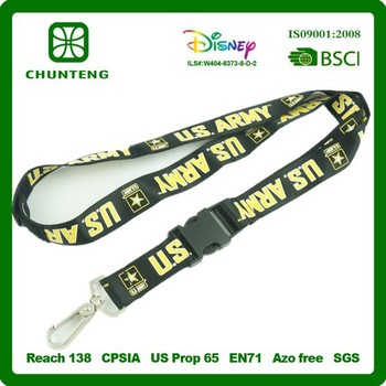 Good quality and hot sell fashion polyester lanyard/cheap custom lanyards no minimum order