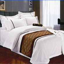 Wholesale customized size white linen bed sheet cheap hotel bed linen