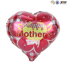 Red Happy Mother's Day festival foil helium balloons for sale