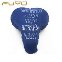 Promotion waterproof pvc bike saddle cover , custom print blue saddle cover bicycle