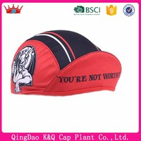 2016 china factory hot sales hats classical red and black color custom wholesale cycling caps