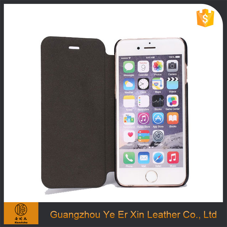 Wholesale hot selling free sample flip smart PU leather phone case for iphone 5s 6s 7 plus