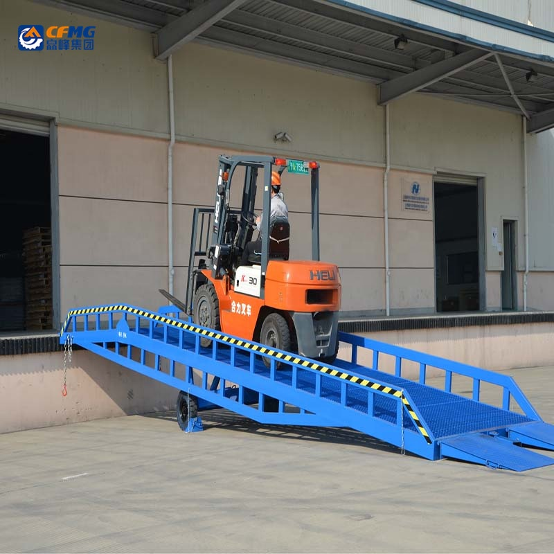 Container Unloading Equipment/forklift Container Mobile Loading Dock Ramps