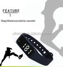 CE Small size fitness wristband 3d pedometer timer wrist step counter