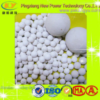 High density alumina catalyst bed support chemical inert ceramic ball