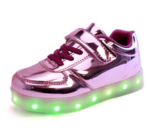 Night Lighting kid LED glow sport shoe