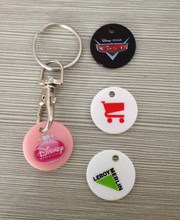 2015 Cheap and ECO-friendly shopping trolley coin keyring