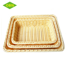Custom cheap stackable woven heated durable rising square plastic bread fruit basket