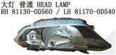 RH:81130-0D560 LH:81170-0D540HEAD LAMP for TOYOTA VOIS 2014 cars