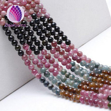 Top quality Multi Natural Tourmaline beads for handmakiing bracelet and necklaces