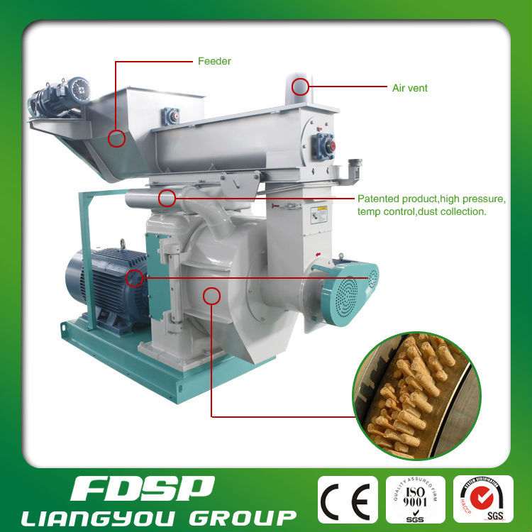 Low cost maintenance bamboo sawdust biomass pellet machine