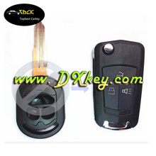 Wholesale price for buick flip key 3 button modified folding remote key blank for 4th generation Excelle
