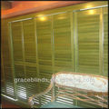 wood shutter assembled by 2.5' blade Z frame with T post from China
