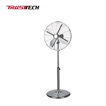 16''/18'' Chrome Electric Metal Stand Fan for Home